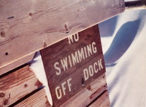 No swimming off dock054